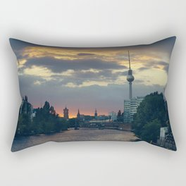 Berlin Red Rectangular Pillow