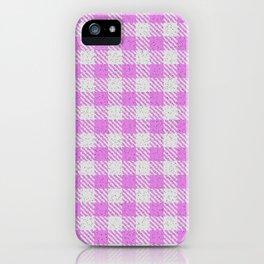 Violet Buffalo Plaid iPhone Case