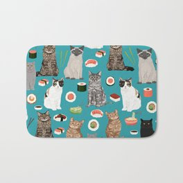 Cat breeds pure bred cats sushi kawaii pet gifts cat person must haves Bath Mat