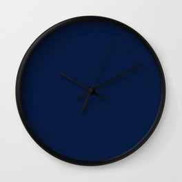 Nautical Navy Blue Solid Color Wall Clock