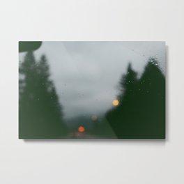 Washington Rain Metal Print