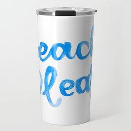 Beach Please Travel Mug