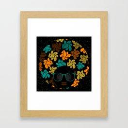 Afro Diva: Fall Colors Brown Gold Teal Framed Art Print