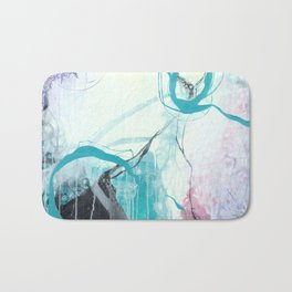 Ice Wind - Square Abstract Expressionism Bath Mat