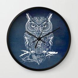 Warrior Owl Night Wall Clock