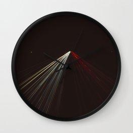 Long exposure photo of night traffic Wall Clock