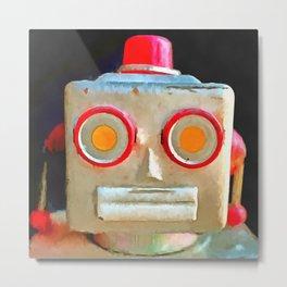 Vintage Robot Metal Print