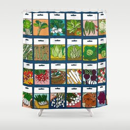 Veggie Seeds Pattern Shower Curtain
