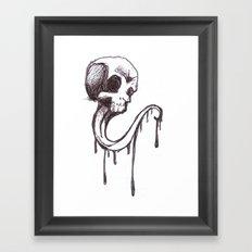 Skull sketch Framed Art Print