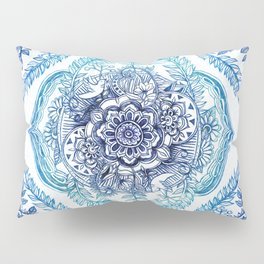 Indian Ink - in Blues Pillow Sham