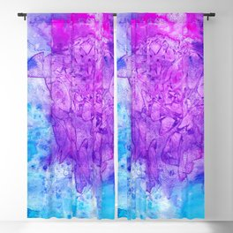 Stained Glass Purple & Turquoise Blackout Curtain
