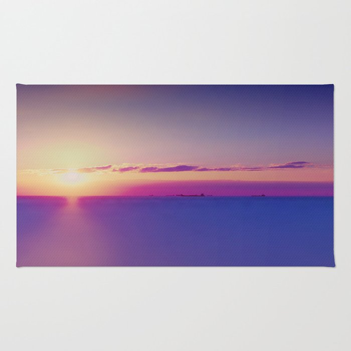 Sunset on the Atlantic Ocean Rug