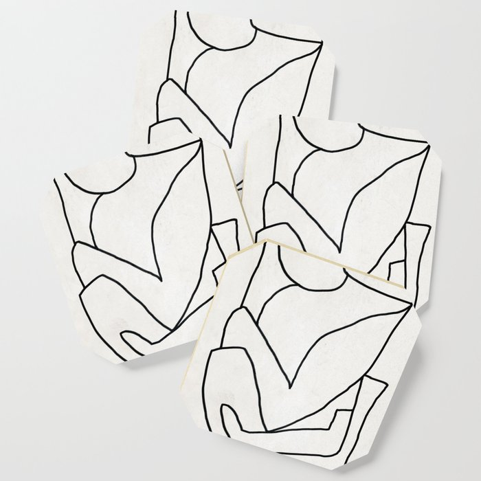 Abstract line art 2 Coaster