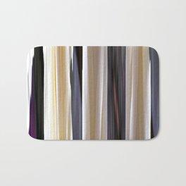 abstract striped pattern Bath Mat