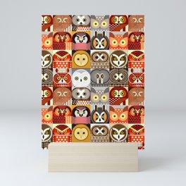 North American Owls Mini Art Print