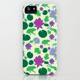 Jumping Frogs of Lily Pad Valley iPhone Case