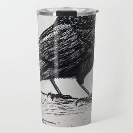 Observant Crow Travel Mug