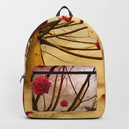 Once upon a time, and far away, Red Roses grew to the Willows... Backpack