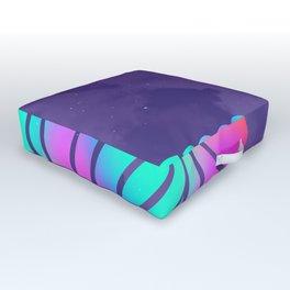 Llamita violeta by #Bizzartino Outdoor Floor Cushion