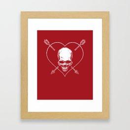 Eros & Thanatos (Joli Rouge Red Flag) Framed Art Print