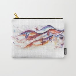 Social Butterfly by J.Namerow Carry-All Pouch