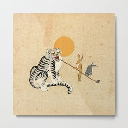 Minhwa: Tiger and Rabbits B Type Metal Print