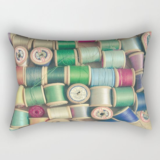 Cotton Reels Rectangular Pillow
