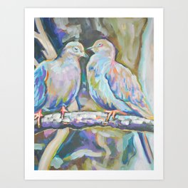 Mourning Doves Art Print