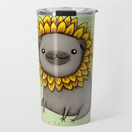 Pugflower Travel Mug