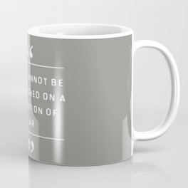 Peace and Fear Coffee Mug
