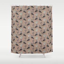 Seagulls in dusky rose Shower Curtain