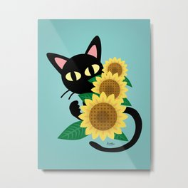 Whim with Sunflower Metal Print
