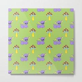 Psychedelic Woodland Lilac Deer Metal Print