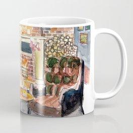 English Countryside Pub Fireside and Streetscene Coffee Mug