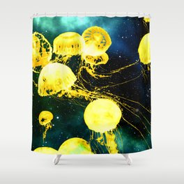 Electric Jellyfish in the Ether Shower Curtain