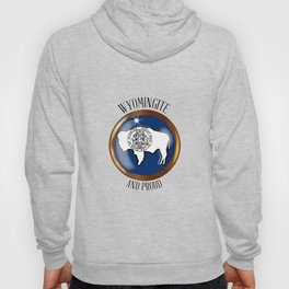 Wyoming Proud Flag Button Hoody