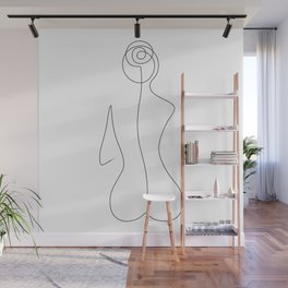 Sitting Beauty Wall Mural