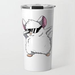 Dabbing Chinchilla T Shirt Cute Rodent Pet Gift Travel Mug