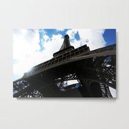 Eiffel from Below Metal Print