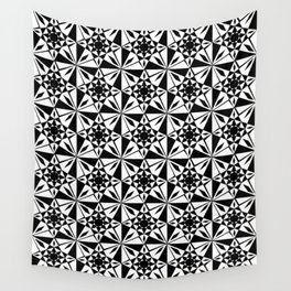 black and white symetric patterns 6- bw, mandala,geometric,rosace,harmony,star,symmetry Wall Tapestry