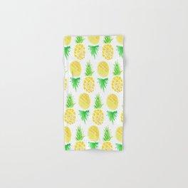 Watercolor Pineapple Pattern Hand & Bath Towel