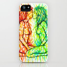 Sexual Energy - Erotic Art Illustration Nude Sex Sexual Love Lovers Relationship Lesbian Couple LGBT iPhone Case