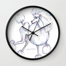 Poodlishes Wall Clock