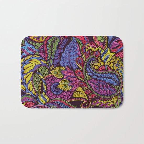 Paisley Dreams - autumn colors Bath Mat