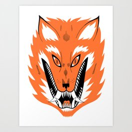 Cursed Fox Art Print
