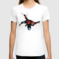 spider man T-shirts featuring Spider Man by Luis Pinto