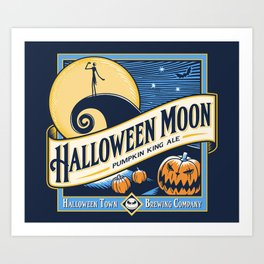 Halloween Moon Art Print