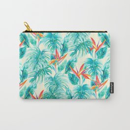 Tropical Paradise Pale Yellow Carry-All Pouch