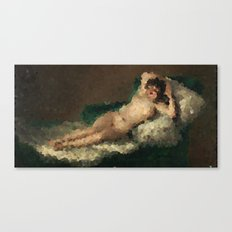 Pixelated Maja desnuda Canvas Print