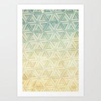 escher Art Prints featuring escher pattern by Vin Zzep